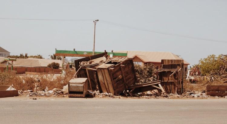 отпадъци от строителната площадка